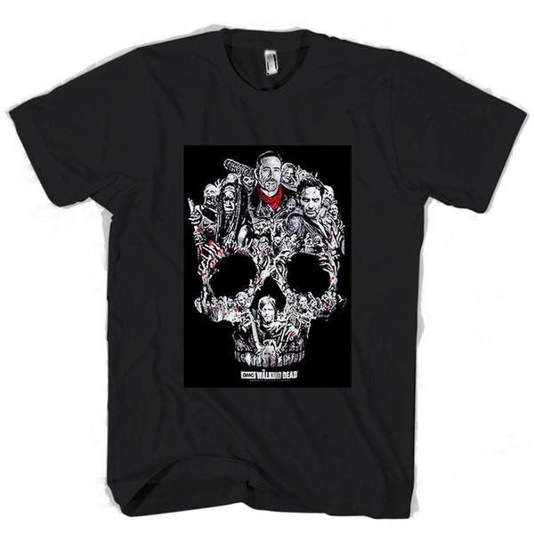 The Walking Dead Negan Lucille Bat Saviors AMC TWD Glenn Ric Man / Woman T-Shirt jacket croatia leather tshirt