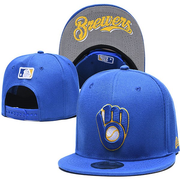 Nouveaux hommes femmes ajusté ajusté casquettes Brewers chapeau de baseball brodé Snapback Sports Caps drop shipping