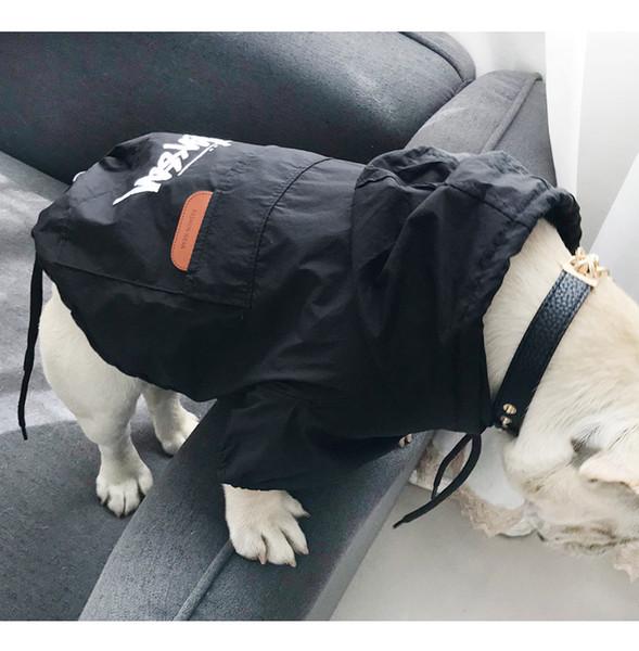 Balck Kırmızı Köpek Güneş Koruyucu Giyim yaz yeni Ince Köpek Yağmurluk Teddy Pomeranian Küçük Köpek Yavru Pet Giyim Pet Yağmurluklar