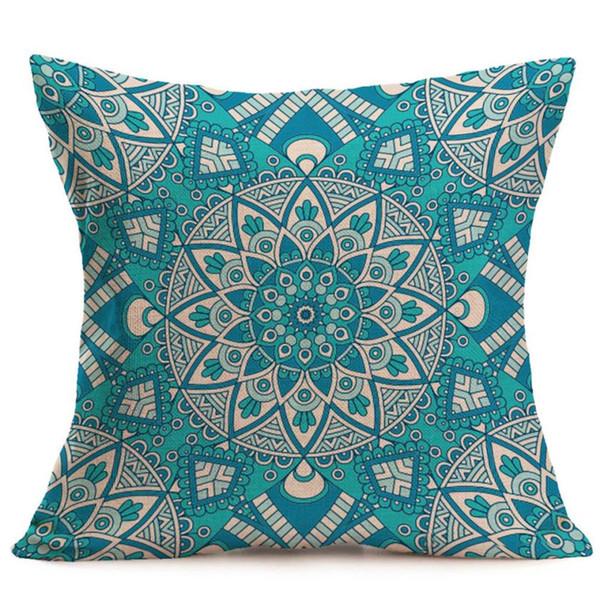 sofa decorative cushions Pillow Case New Bohemian Pattern Throw Pillow Car Cushion Pillowcase Home Decor C0611
