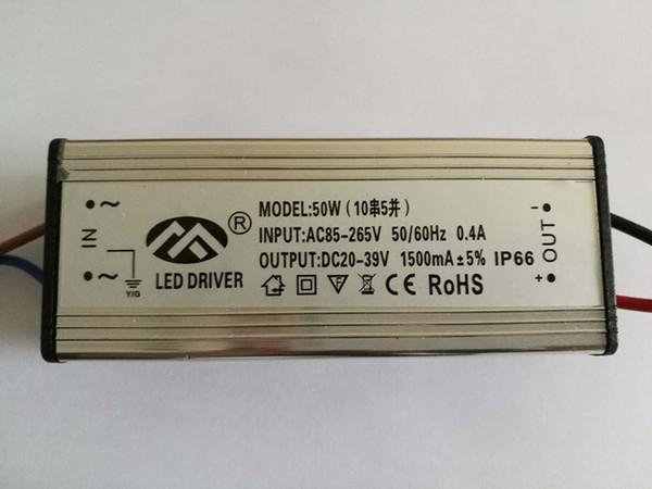 Waterproof IP66 10W 20W 30W 50W AC85V-265V constante LED driver atual para Spotlight Luz de inundação integradas contas lâmpada