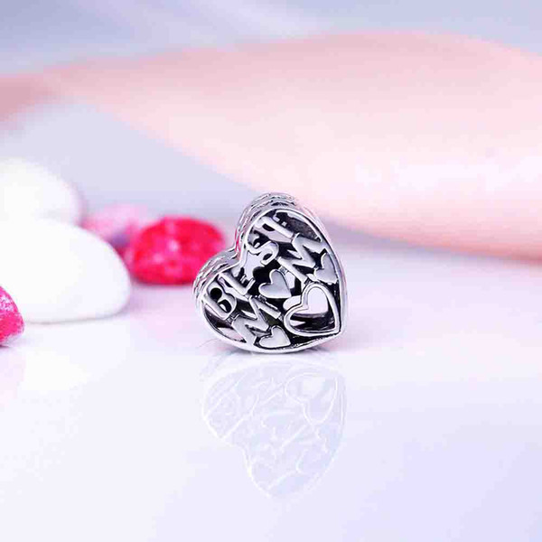Stunning 925 Sterling Silver Best Mum Charm