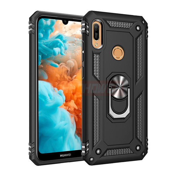 Luxury Armor Metal Ring Case On The For Huawei P30 Pro P Smart 2019 Shockproof Case Cover For Huawei P30 Lite Honor 10 Soft Case