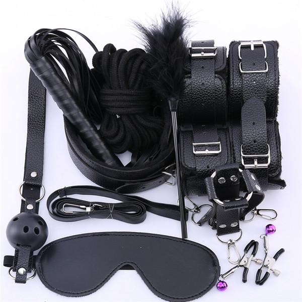 10leather 10pcs black