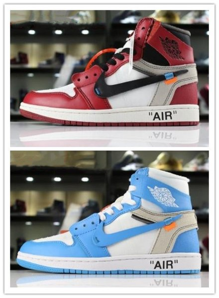 best selling Aair 6 JORDAN 1 Arrival Off OG Top 1 Men Black Gold 1s Sneakers High Quality NUC Outdoor Trainers Mens white running Shoes Basketball Shoes