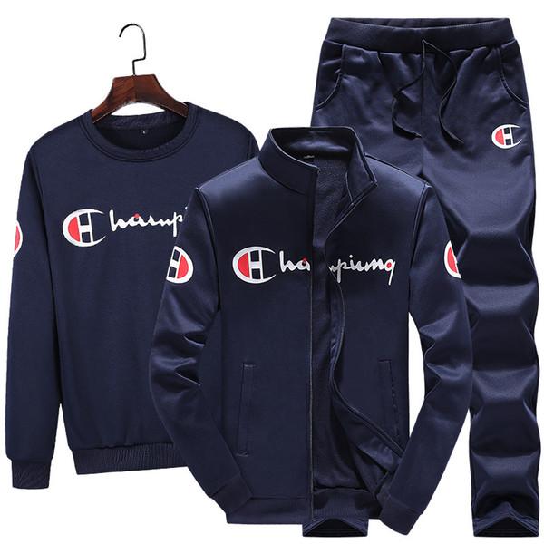 Commerce extérieur transfrontalier nouveau costume de sport décontracté printemps jm automne veste tendance beaux vêtements trois pièces