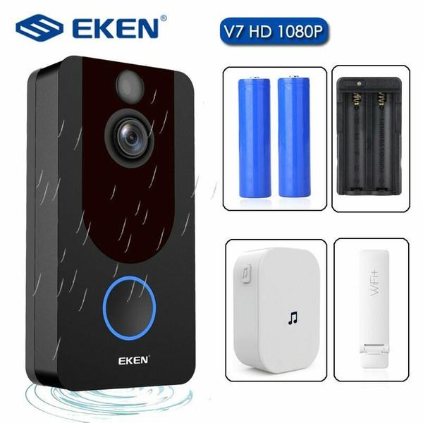top popular Official Original EKEN V7 Video Doorbell 1080p HD Night Vision Wireless WiFi Security Home 2020