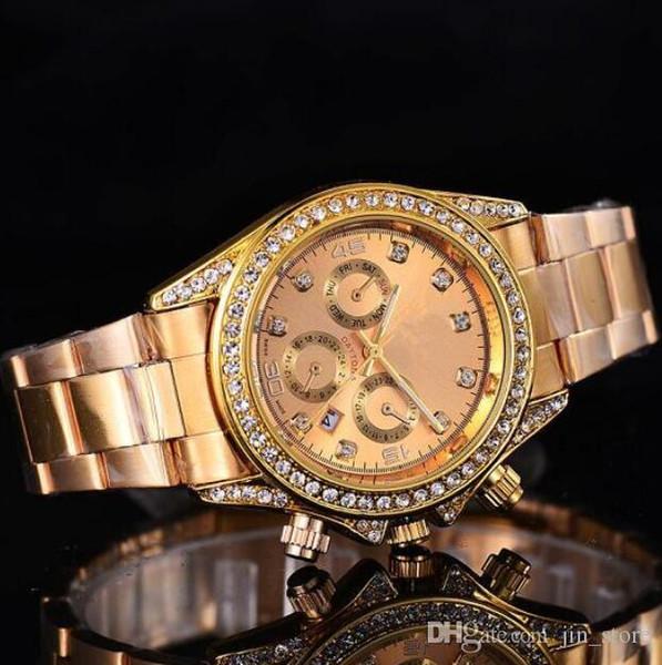 top popular 2019 Luxury GENEVA Watches Womens Diamonds Watches Bracelet Ladies Designer Wristwatches 3 Colors Free Shipping 103621 calendar gold clock 2020