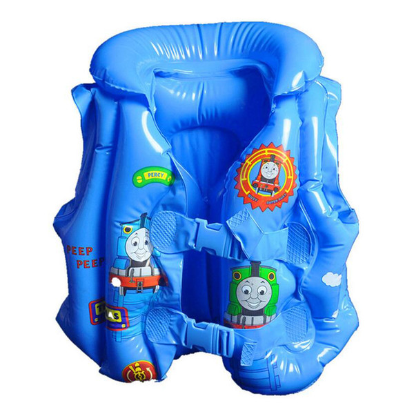 Top Quality Swim Trainer Thicken Infant Inflatable Swimming Vest Child Cartoon Swimsuit Infant Swimming Learning Ring Swimwear