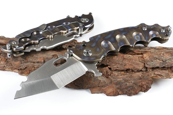 Newer recommended Tiger brake (D2 sand blade) camping hunting knife folding knife 1pcs free shipping
