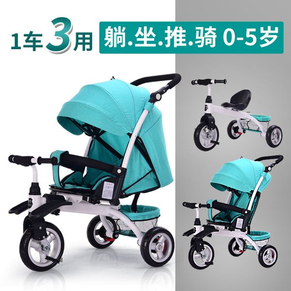 f762567ac37 2019 3 In 1 Can Lie Flat Infant Child Tricycle Bicycle 0 5 Years Old ...