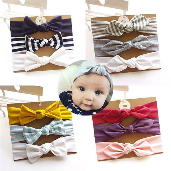 3pcs kids floral headband elastic bowknot accessories hairband set headbands baby girls hair accessories acessorios para cabelo