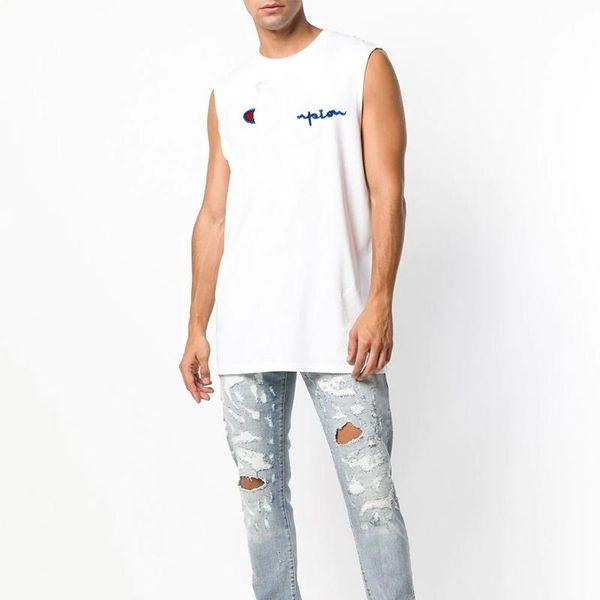 Marca de campeones camisetas sin mangas para hombre tendencia de la moda camiseta sin mangas clásico bordado carta logo impresión camisetas sin mangas de alta calidad camisetas de algodón