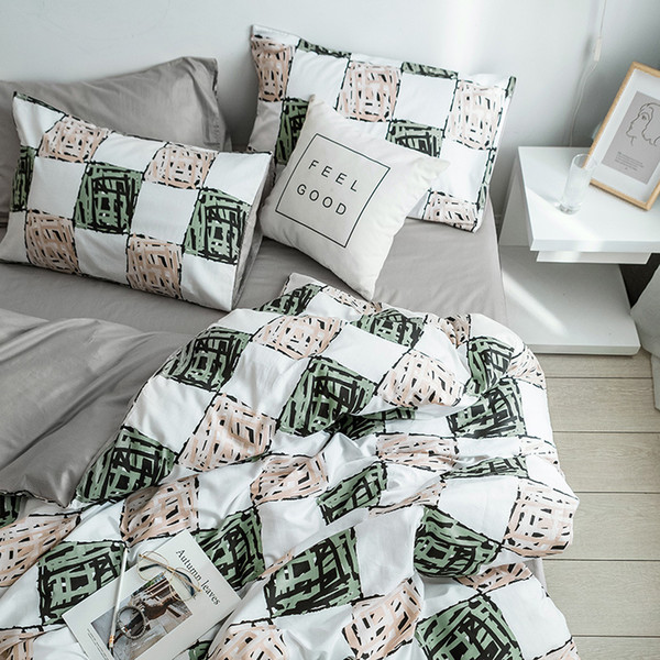 S1905010 Most Popular Bedding Set Soft Duvet Cover Bedclothes Quilt Pillowcase Home Decoration Queen King Size