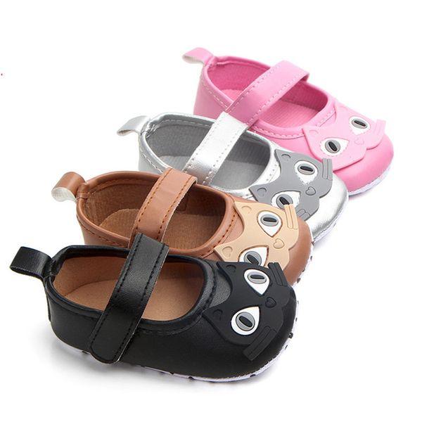Newborn Baby Girl Cartoon Sneaker Soft Sole Anti-slip Single Shoes First Walker A84L77