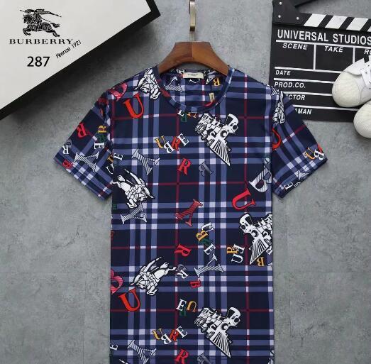 2019 роскошных перечислены новый роскошный модный бренд высокого качества досуг рубашка с коротким рукавом футболки в стиле летом # 1122