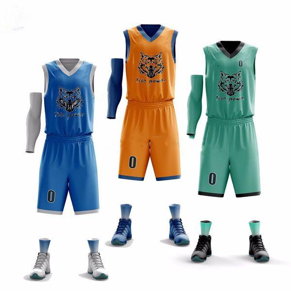 Men Jerseys BasketballQuick Dry Outdoor Clothes Cheap Basketball Uniforms Sets Sleeveless Shirt Team Training Sport Jerseys