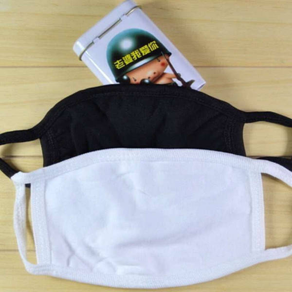 best selling Cycling Wearing Anti-Dust Cotton Mouth Face Mask PM 2.5 Mask Unisex Man Woman Black White Fashion free shipping