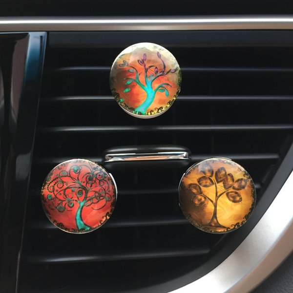 Tree Of Life Car Diffuser Flavoring For Car Air Fresheners Fragrances Auto Perfume 2018 New Vent Clip Aroma Scent Decor