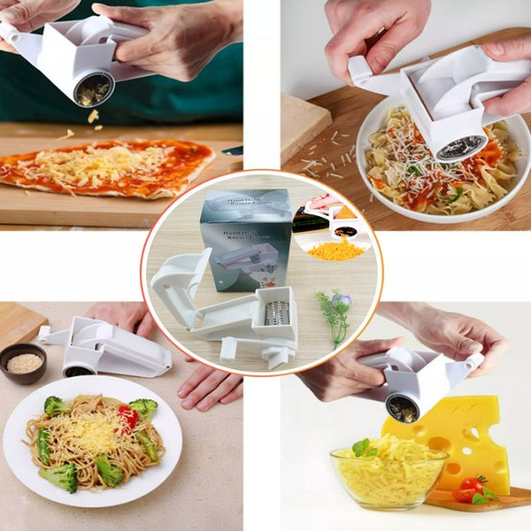 New Classic Plastic Hand-cranked Rotary Cheese Grater Rotary Ginger Slicer Grater Chocolate Slicer Vegetable Grater Cheese Tools WX-C53