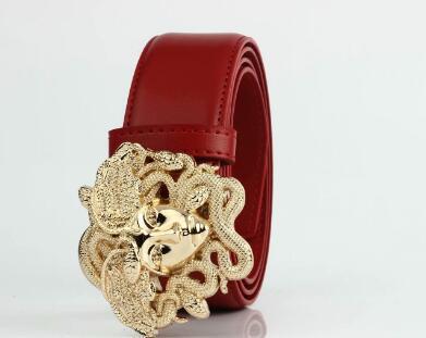 Medusa leather belt high quality leather belt for men and women fashion casual jeans women belt size 105-125 cm