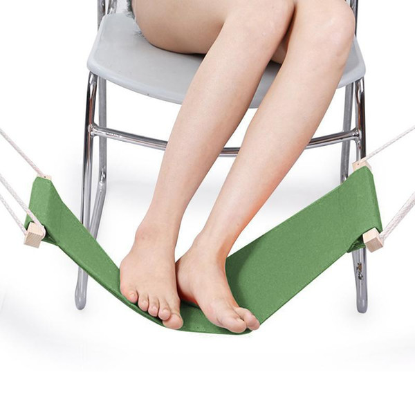 Wholesale- Easy Disassemble Travel Foot Rest Hammock Relieve Foot Fatigue Stand Office Home Leisure Desk Feet Rest Hammock