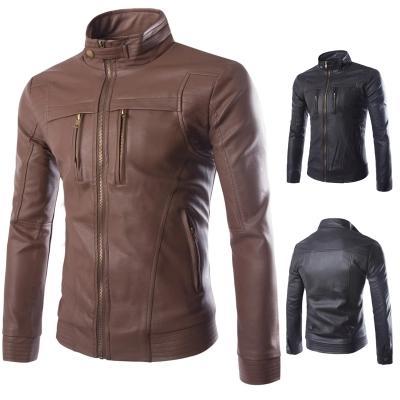 Deri Ceket Erkekler Sıcak Kış Ceketler Mont Tasarım Marka Pu Deri Ceket Erkekler Slim Fit Motosiklet Biker Ceket