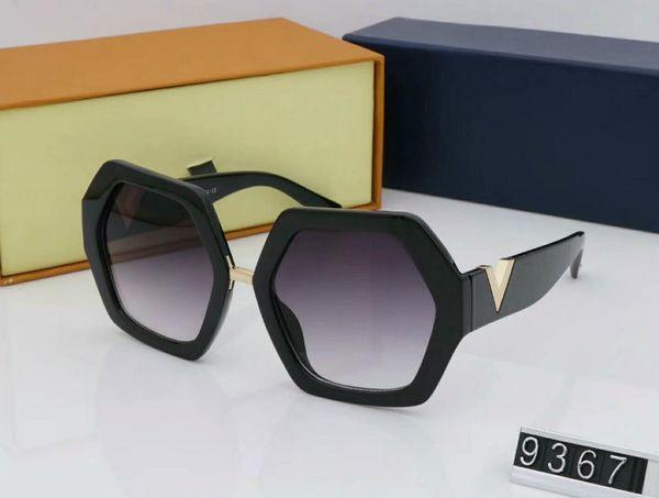 luxury- New high quality fashion retro designer male lady brand pilot sunglasses golden frame brown 62mm glass lens UV400 protection