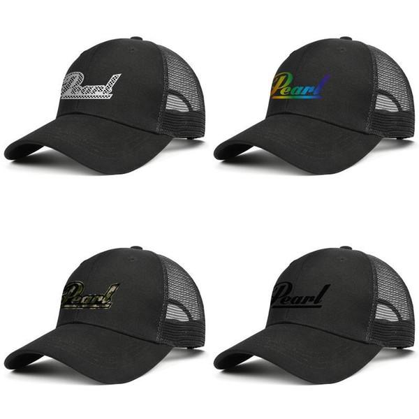 Pearl Drums in bianco e nero plaid progettista Uomini Donne maglia snapback Fits regolabili palla hatsvintage tappo di ventilazione benna gay pride il