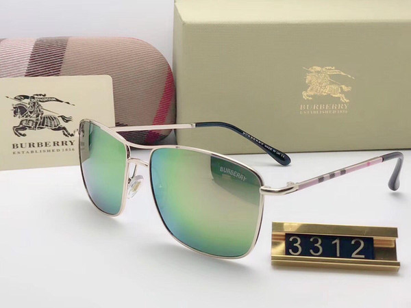 Brand Designer Sunglasses High Quality Metal Hinge Sunglasses Men Glasses Women Sun glasses UV400 lens Unisex with cases and box 620-8