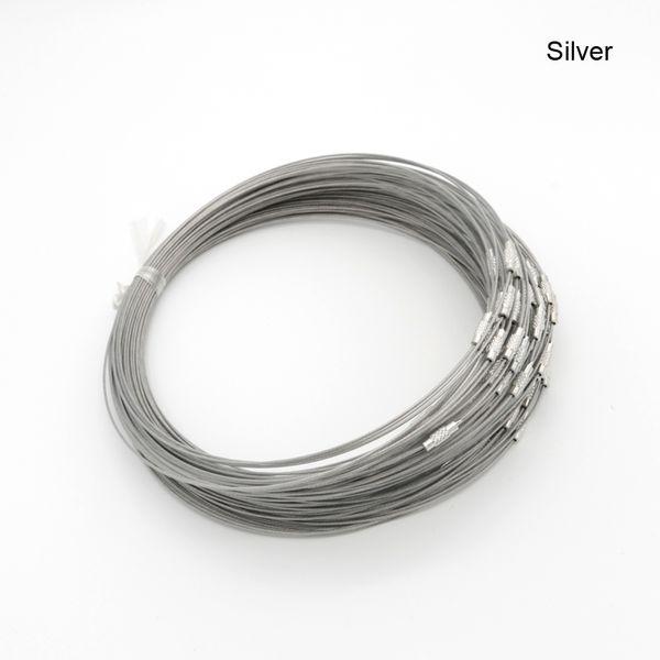collier ras de cou cable acier