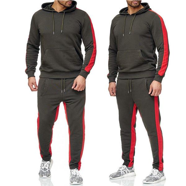 2020 commercio all'ingrosso di marca Mens di tuta Giacche Pantaloni Running Abbigliamento Moda Abiti set di molle Zipper Felpe X-sport di yoga L-3XL B1015160T