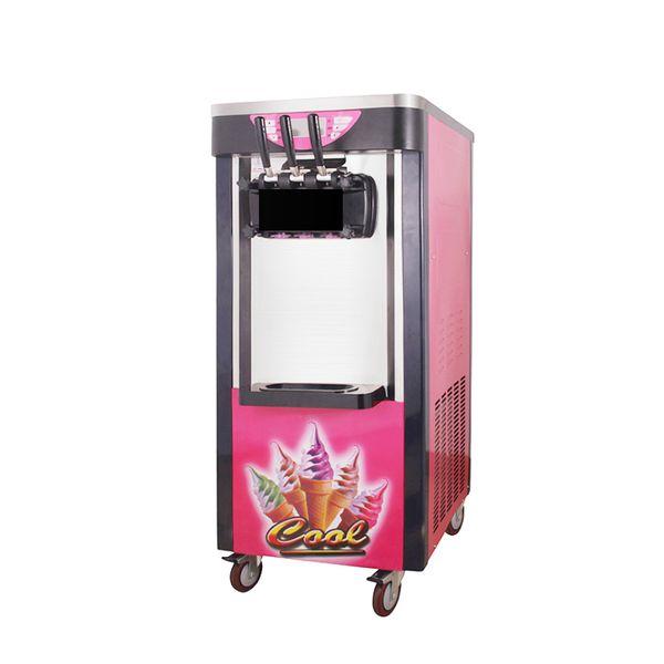 Farb-Eismaschine für Restaurants Ice Cream Business Drei Köpfe mit Universal Wheels 220V Digital Control System