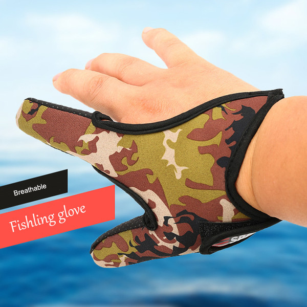 Professional Anti-slip Fishing Glove 2 Fingers fishling Breathable gloves finger Protector outdoor equipment tool sport Leisure accessories