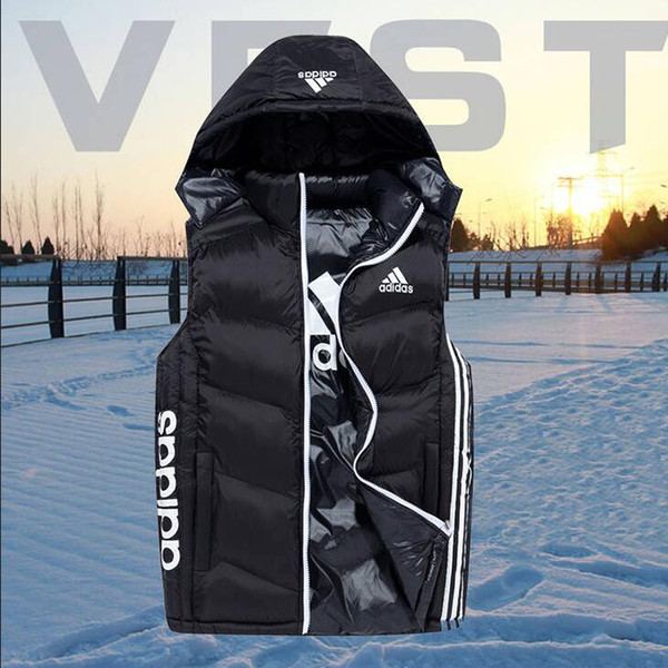 3 Stripes Men Down Vests for Men Brand Vest Waistcoat Winter Coat with Tags Hat Detachable Sleeveless Outdoor Jacket AB Wear Clothing