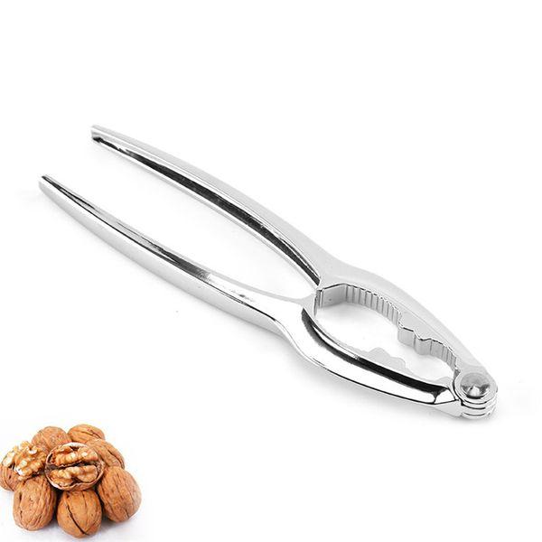 top popular Durable Nutcracker Tool Nutcracker Kitchen Gadgets Metal Nut Cracker Glossy Silver Zinc Alloy Walnut Cracker Wholesale 2020