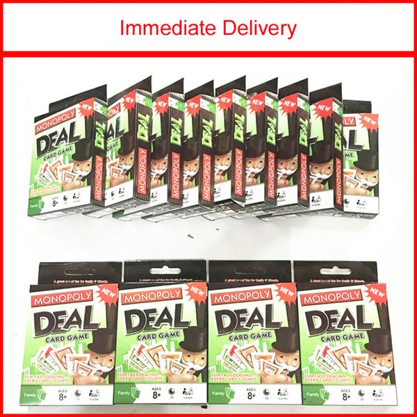 Monopoly Deal Card Game Collect Sets of Properties With Different Colors Earn and Swap Properties and Charge Other Players Rent