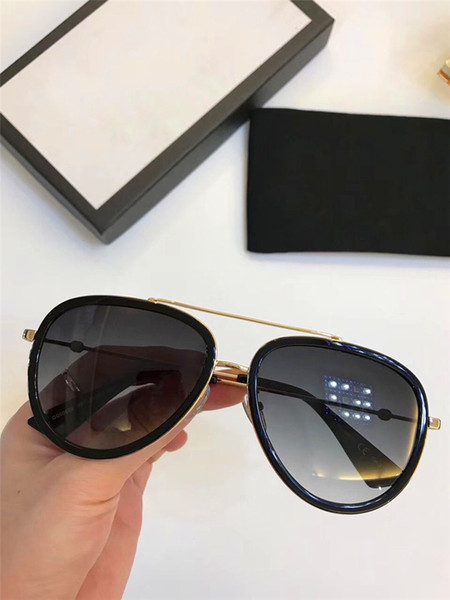 new fashion designer sunglasses 0062 classic pilot frame simple summer style uv400 lens protection eyewear with box, White;black