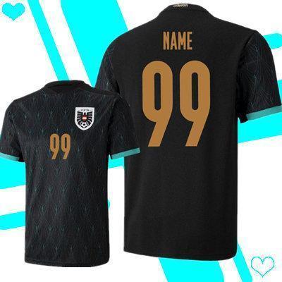 2020 2021 Austria camiseta de fútbol del equipo nacional 20 21 Alaba Arnautovic Sabitzer Grillitsch Eurocopa de distancia negro camisetas de fútbol