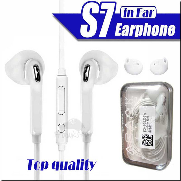 top popular Earphones For S7 S6 edge Galaxy Headphone High Quality In Ear Headset With Mic Volume Control For 5 6 Mobile Phone 2020