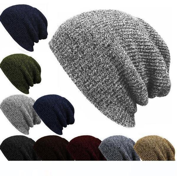 Mode femmes et les hommes Chapeaux C Trendy Bonnet Crochet Hat hiver Bonnets Outdoor du nouveau-né Bonnet en laine bonnets Réchauffez Bonnet