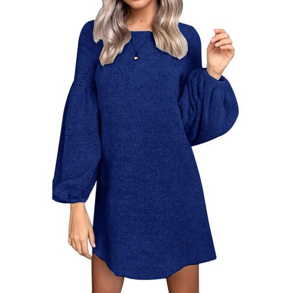 2018 nuevo vestido casual mujer manga larga suéter vestido jersey otoño invierno prendas de punto suéter de navidad vestidos de punto caliente