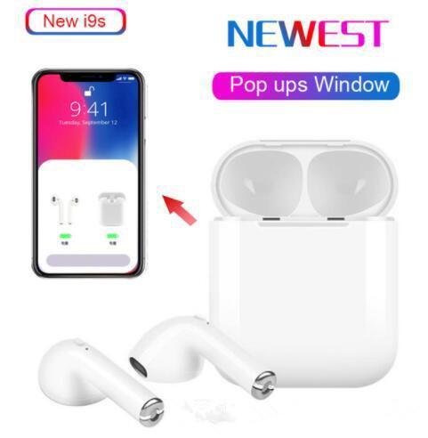 I9S Tws IOS Android Telefon için Kulaklık Kulaklık Stereo TWS Kulakiçi Şarj Kutusu Ile Kablosuz Bluetooth Kulaklık Paketi ile