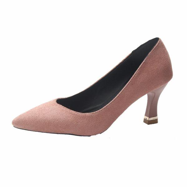 Designer Dress Shoes Size 34-40 2019 New Autumn Women 's Pumps High Heels Elegant Plain Dress Woman Comforable Ladies Pointed Toes Footwear