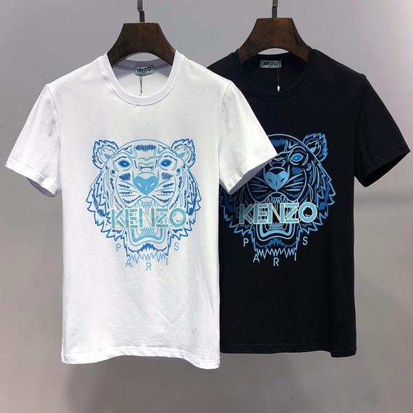 Moda erkek 2019 yeni pamuk kişilik İnce ince kısa kollu erkek eğilim high-end patlamalar rahat T-shirt 714 6626