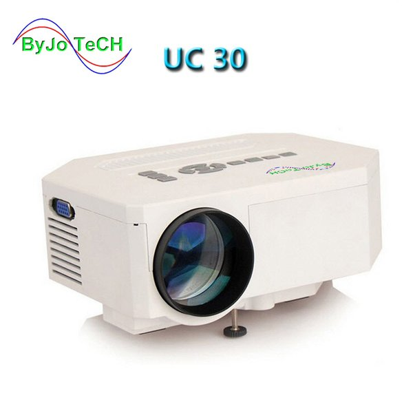 best selling ByJoTeCH UC30 HD mini LED projector   Native 640X480   Support HDMI   Three Glasses lenses  150 lumens With Remote Controller