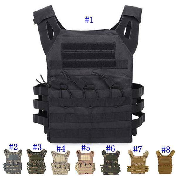 Tactical Vest Quick Combat Jagdweste Molle Chest Rig Schutzplatte Träger klettern verstellbare Combat Gear Westen MMA2459