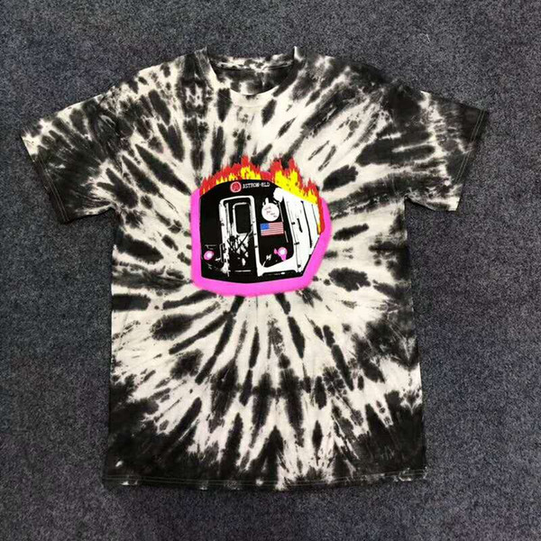 fbfd9b900 Nuevo Travis Scott Astroworld Sicko Tee Camiseta de tren ardiente EE. UU. Hip  hop