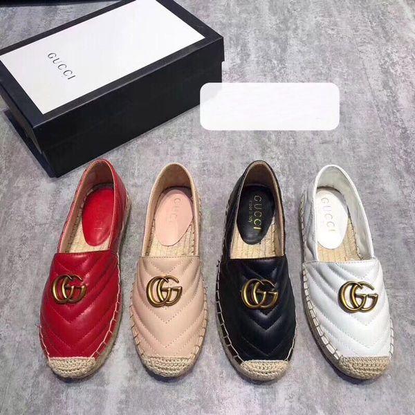 Yüksek kalite Marka tasarımcısı espadrilles hakiki deri Kalın tabanlar kanvas ayakkabılar kadın Platformu ayakkabı moda flats ayakkabı Artı Size34-40