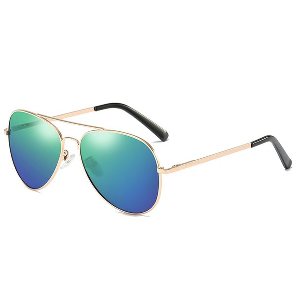 Gold frame blue and green tablets